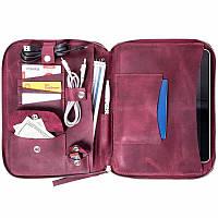 Мужская сумка органайзер для ноутбука из натуральной кожи Spitch - Burgundy, фото 1