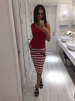 Костюм летний женский красный модель 27011358