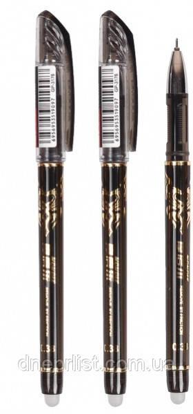 "Ручка гелевая ""пиши-стирай"" черная, 0.38 мм (GP-3176)"