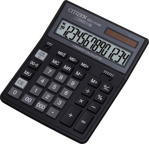 Калькулятор Citizen SDC-414N бухгалтерский 14р, фото 2