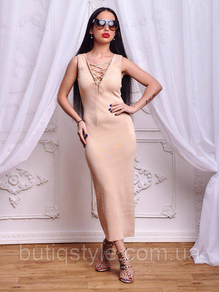 Красивое женское трикотажное платье миди на переплете пудра, персик, зеленый, марсала