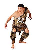 Первобытный человек мужской карнавальный костюм, дикарь