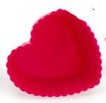Форма для выпечки силиконовая Кекс маленький сердечко