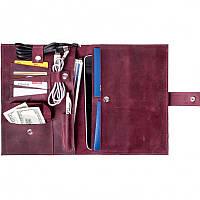 Кожаная папка - чехол для планшета и документов Spitch - Burgundy, фото 1