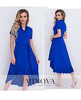 Праздничное платье с удлиненным подолом ТМ Минова Размер: 42, 44, 46,48