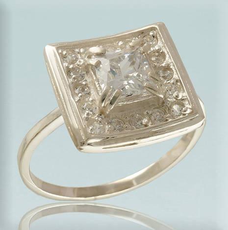 27d5be1501d7 Серебряное кольцо 925 пробы с фианитами