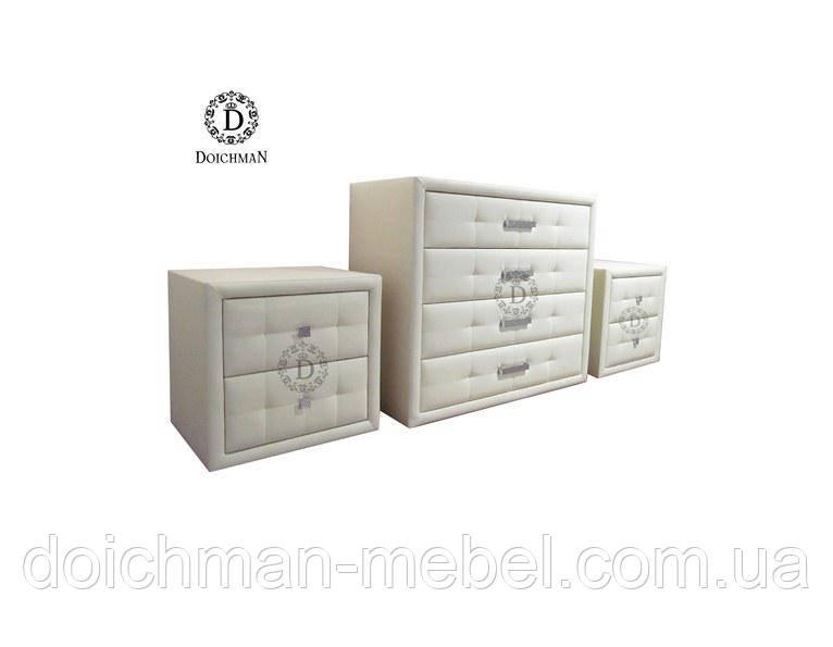 Комплект комод и тумбочки из эко кожи на заказ