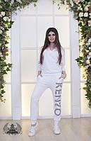 Женский спортивный белый костюм под Kenzo, фото 1