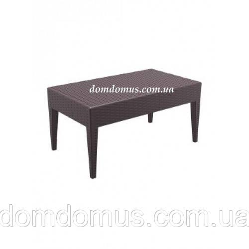 Столик пластиковый Miami Lounge Tadle Siesta, коричневый