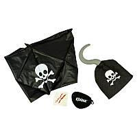 Набор пирата 4 предмета. Крюк, бандана, повязка, шрам.
