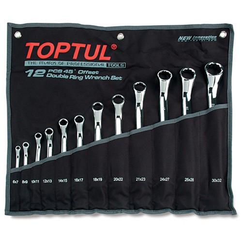 Набор накидных ключей 6-32мм (угол 45°)  12ед. TOPTUL GAAA1201