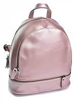 Женский кожаный рюкзак 1035G розовый, фото 1