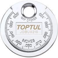 "Приспособление типа ""монета"" TOPTUL для проверки зазора между элетрод. cвечи JDBU0210"