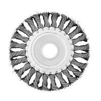 Щетка кольцевая 115*22.2 мм (пучки витой проволоки) Intertool BT-7115