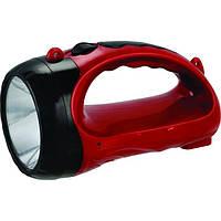 Аккумуляторный ручной фонарь 1 LED 1 Вт Intertool LB-0103