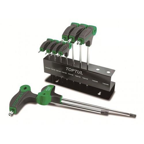 Набор ключей TORX с ручкой L-обр. T10-T50  9ед.  TOPTUL GAAX0901