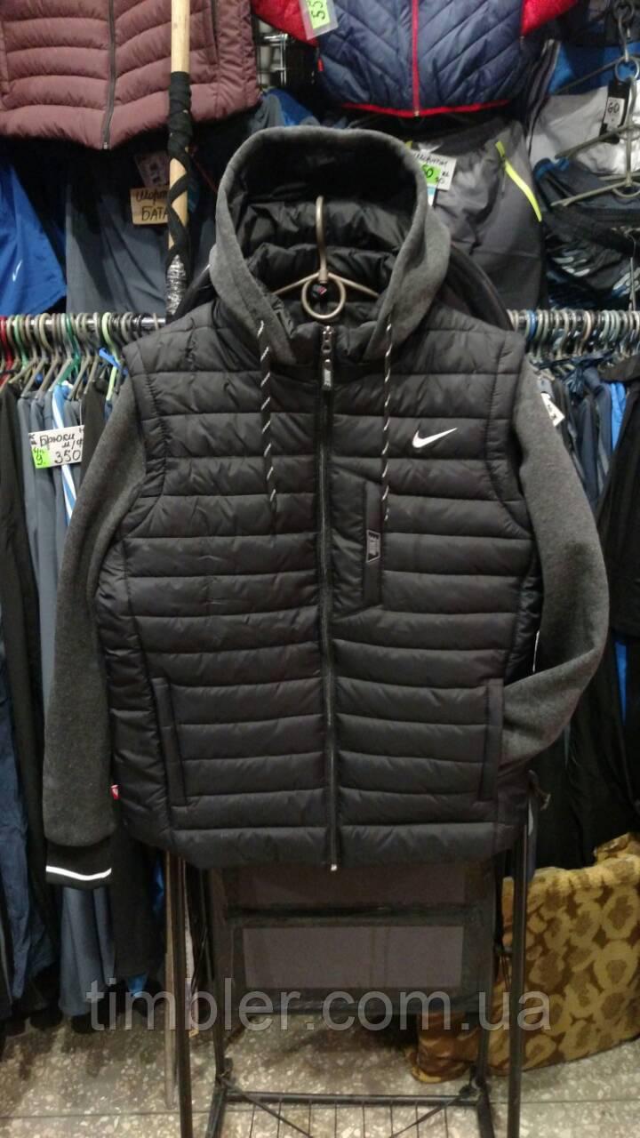 e6c41c7f Мужская куртка Nike полубатал с отстегивающимися трикотажными рукавами копия