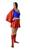 Супер девушка женский карнавальный костюм \ размер универсальный \ BL - ВЖ121