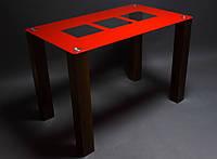 Обеденный стеклянный стол Малевич