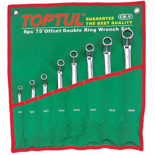 Набор накидных ключей 6-22мм (угол 45°)  8ед.   GAAA0807 TOPTUL GPAH0804