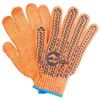 Перчатка хлопчатобумажная с резиновым вкраплением с одной стороны (ПВХ) Intertool SP-0135