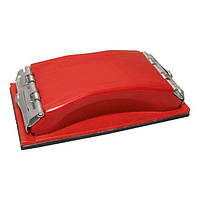 Брусок для шлифования 85*165мм, металлический зажим для быстрой и надежной фиксации Intertool HT-000