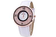 Модные женские часы с белым ремешком код 223