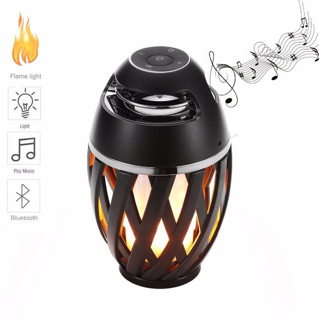 Беспроводная колонка Flame Atmosphere Speaker, Bluetooth колонка, блютуз колонка с светомузыкой, Акция