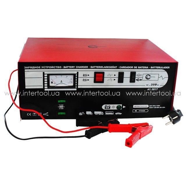 Автомобильное зарядное устройство 12-24В, 600Вт, 230В, 30/20А Intertool AT-3017