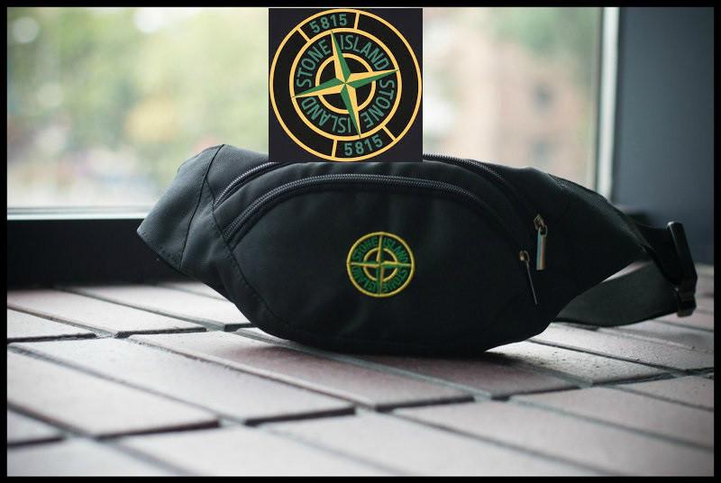 Поясная сумка Stone Island (чёрная)⭐⭐⭐⭐⭐