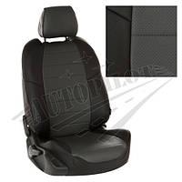 Чехлы на сиденья Mazda CX-5 II Active, Supreme с 17г. (Экокожа Черный   Темно-серый)