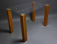 Стол из стекла Прозрачный с полкой