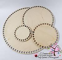 Круглое донышко для вязанных корзин, диаметр 45 см