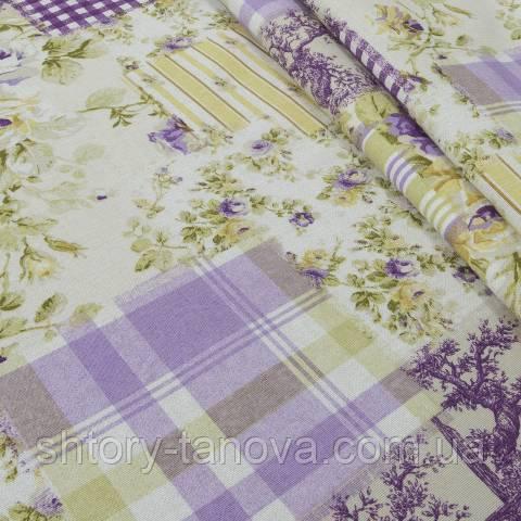 Декоративная ткань для штор, печворк
