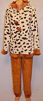 Пижама махровая леопард