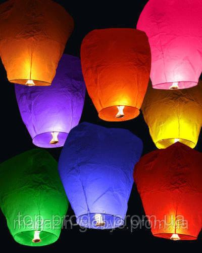Бумажные летающие фонарики, Китайские фонарики, Небесные фонарики 10 штук