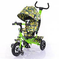 Детский велосипед трехколесный tilly trike t-351-8 салатовый с надувными колесами