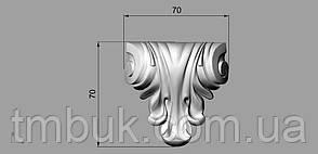 Кронштейн деревянный 16 - 70х70 мм, фото 2