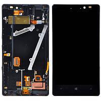 Nokia Lumia 930 дисплей в зборі з тачскріном модуль з рамкою чорний