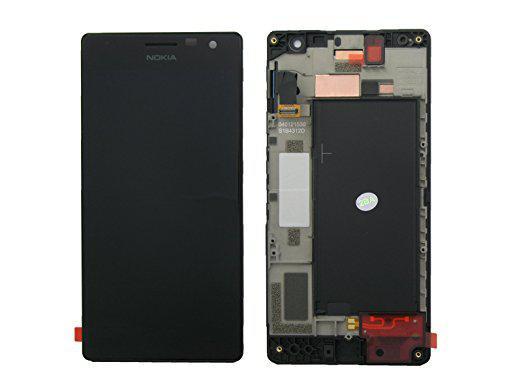 Nokia Lumia 730 дисплей в зборі з тачскріном модуль з рамкою чорний