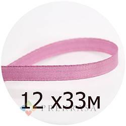 Атласная лента 6мм розовый , 33м. (12 катушек)