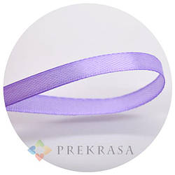 Атласная лента 6мм фиолетовая, 33м. (катушка 33м.)