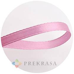 Атласная лента 6мм розовая, 33м. (катушка 33м)