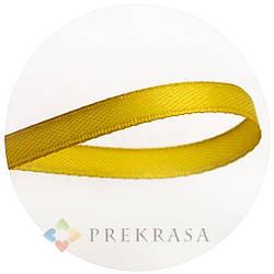 Атласная лента 6мм желтая, 33м. (катушка 33м)