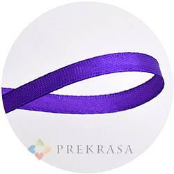Атласная лента 6мм фиолетовая, 33м. (катушка 33м)