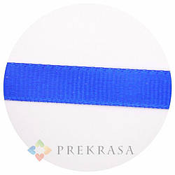Лента репсовая синяя 10мм, 92м.
