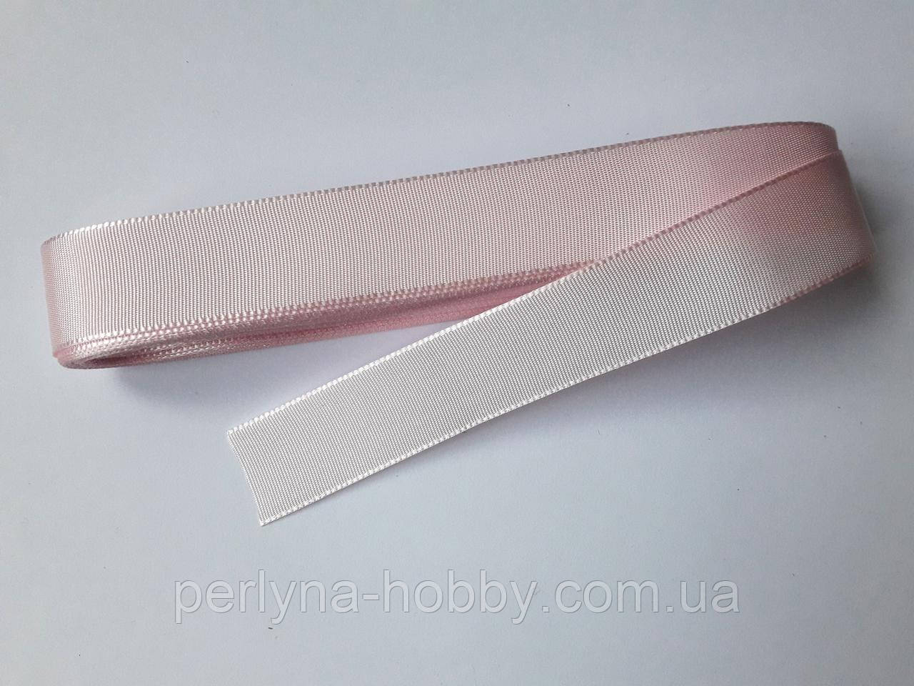 Стрічка репсова 2 см( 10 метрів) рожева пастельна № 16