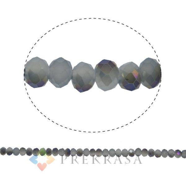 Бусины сваровски серые 4мм,140 шт.