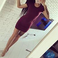 Женское платье мини (40-46рр) красное цвета в ассортименте, фото 1