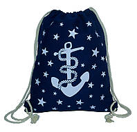 Летний рюкзак Anchor&Stars 4 Цвета Синий(Размер 42*34)